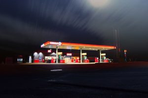 Gas Station at Night - New Orleans Gas Station Insurance